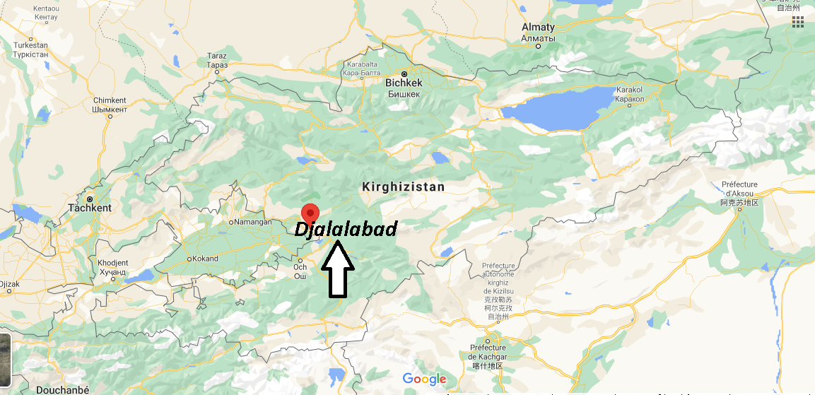 Où se trouve Djalalabad