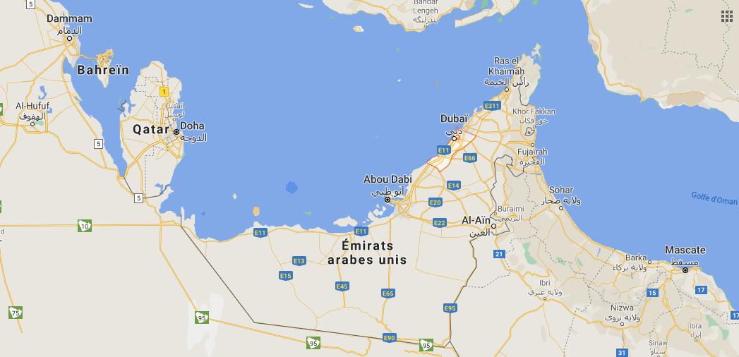 Où se trouve Dubai dans le monde