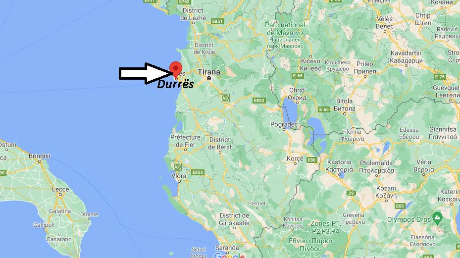 Où se trouve Durrës