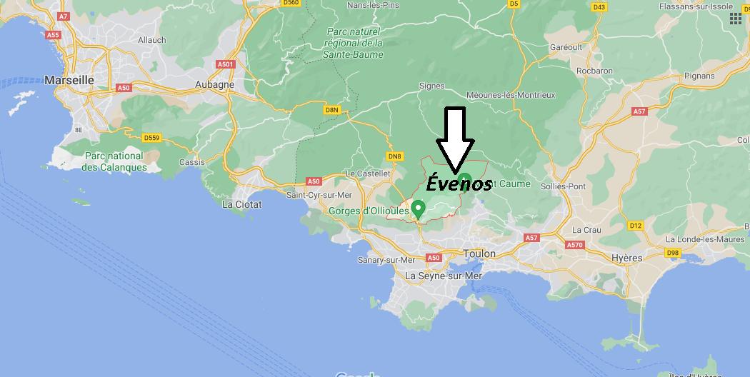 Où se trouve Évenos