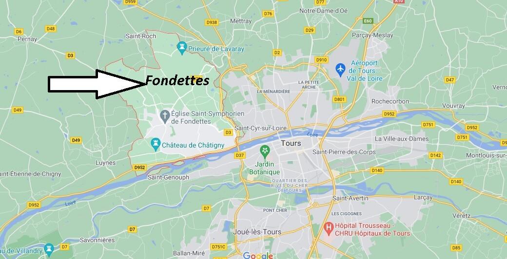 Où se trouve Fondettes