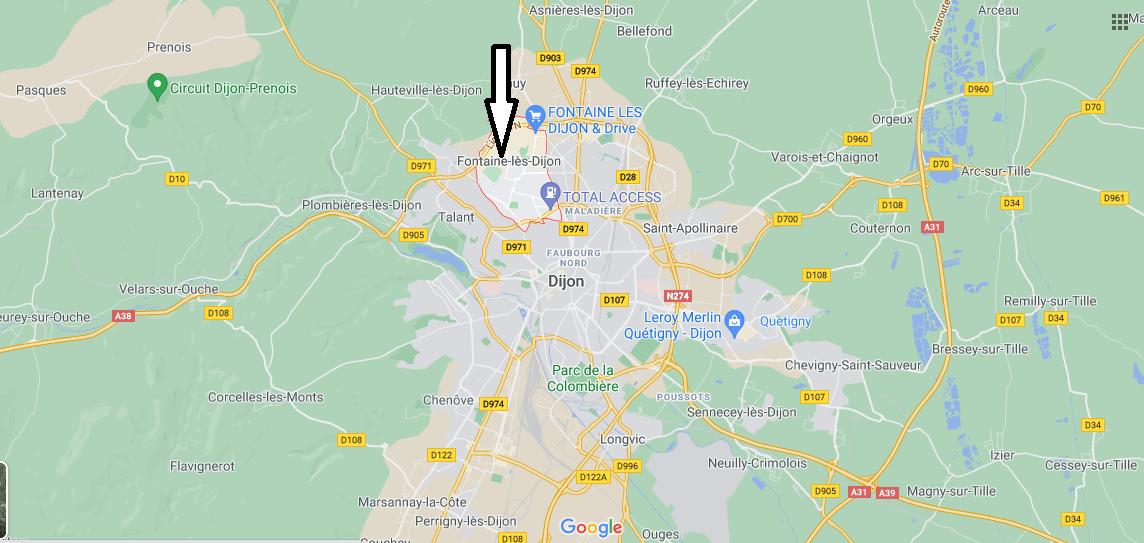 Où se trouve Fontaine-lès-Dijon