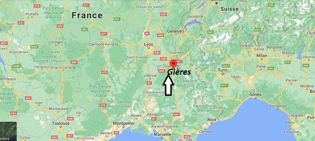 Où se trouve Gières