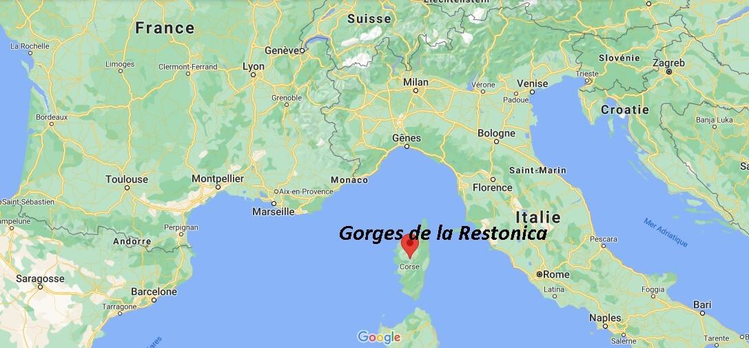 Où se trouve Gorges de la Restonica