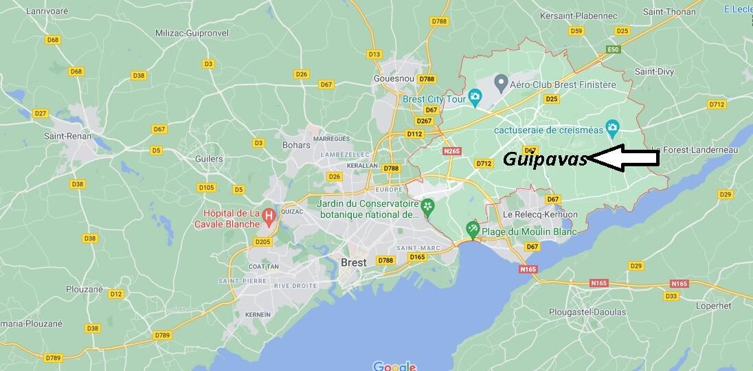 Où se trouve Guipavas