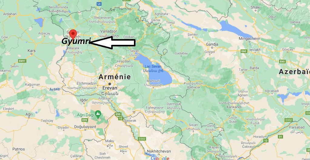 Où se trouve Gyumri