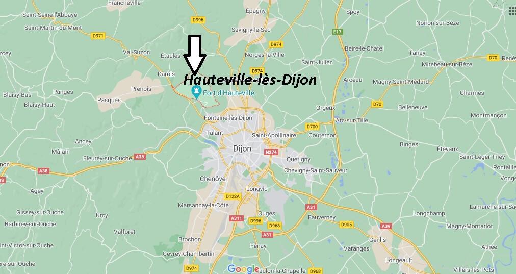 Où se trouve Hauteville-lès-Dijon