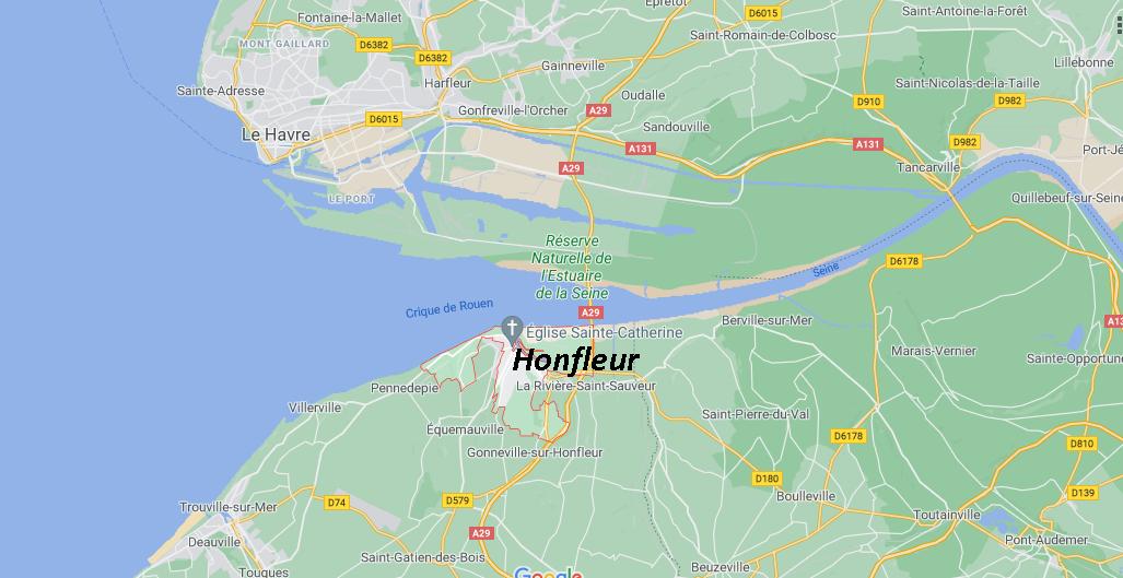 Où se trouve Honfleur sur la carte de France