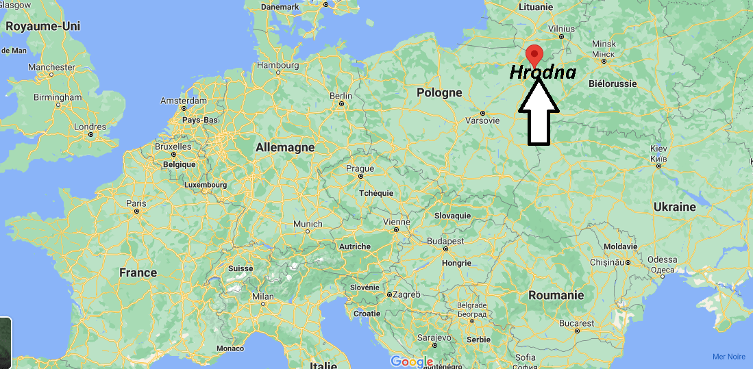 Où se trouve Hrodna