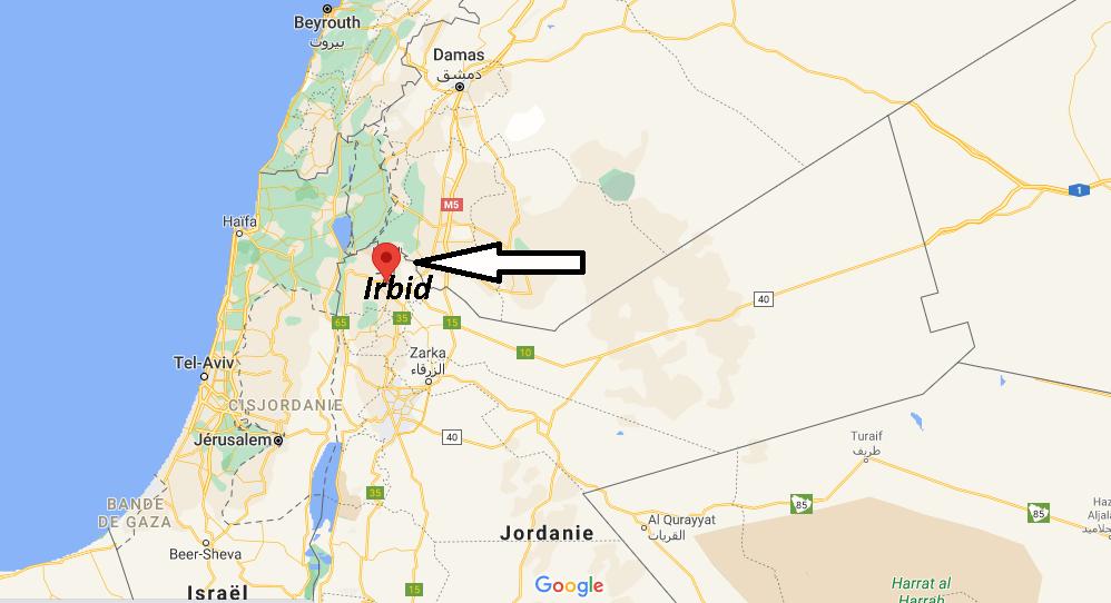 Où se trouve Irbid