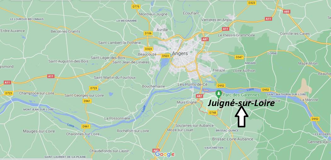 Où se trouve Juigné-sur-Loire
