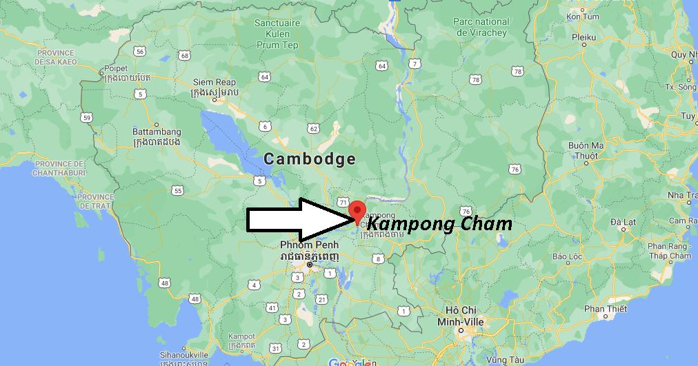 Où se trouve Kampong Cham