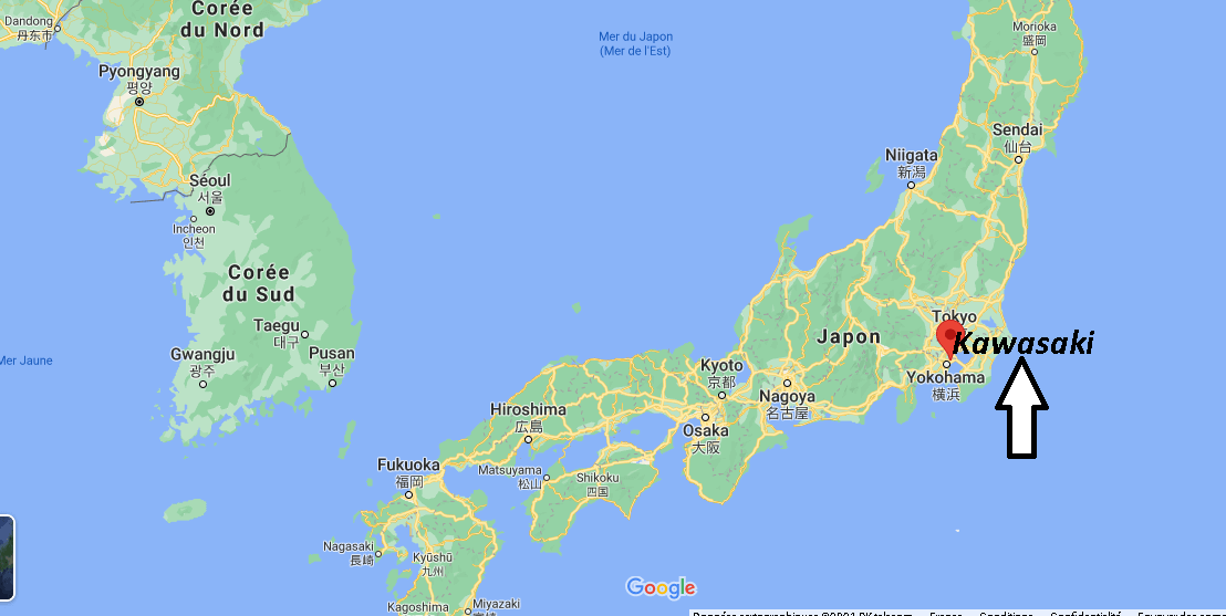 Où se trouve Kawasaki