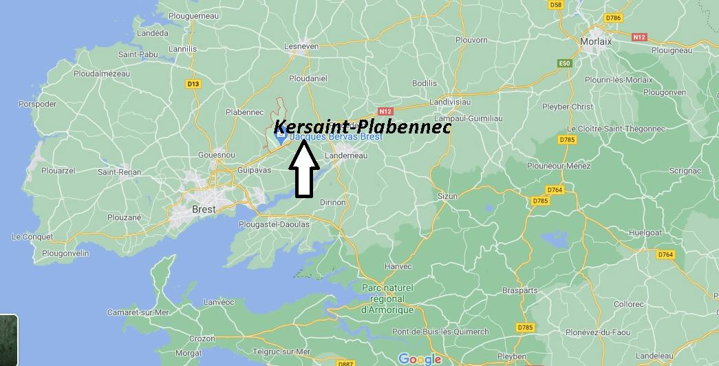 Où se trouve Kersaint-Plabennec