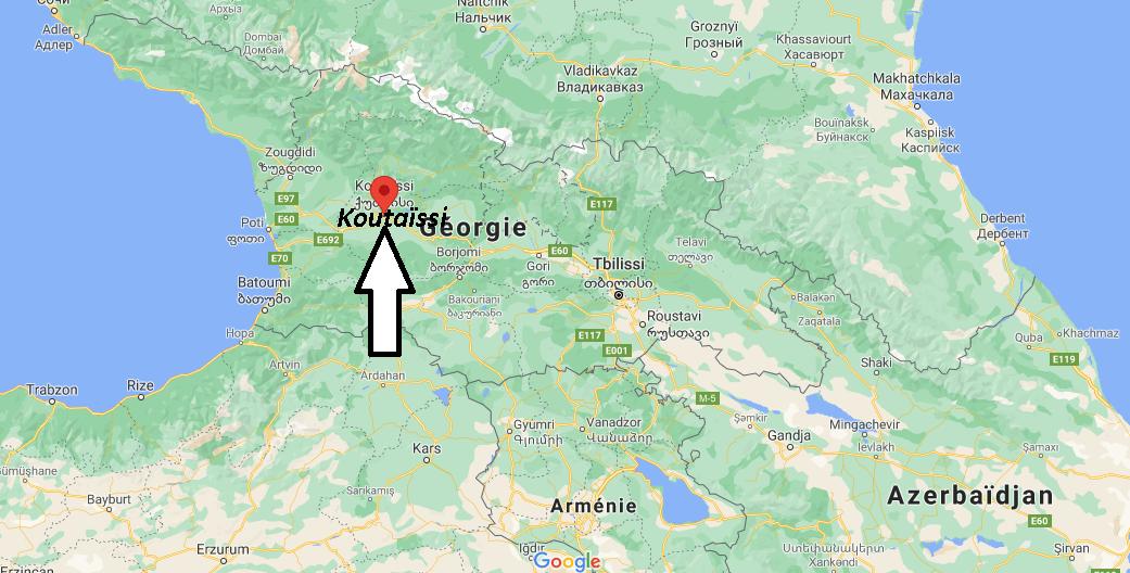 Où se trouve Koutaïssi