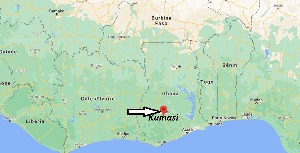 Où se trouve Kumasi