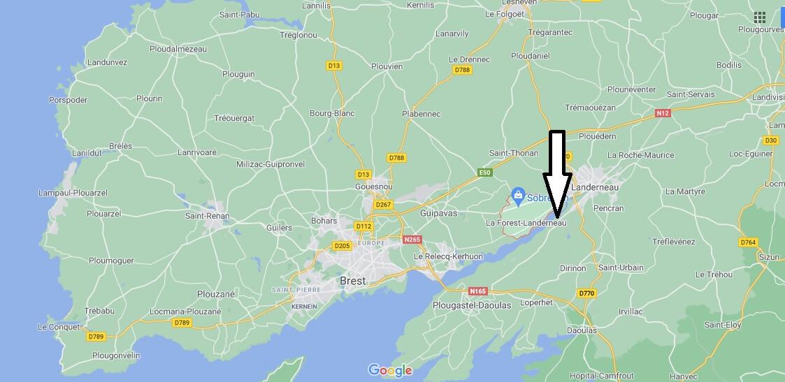 Où se trouve La Forest-Landerneau