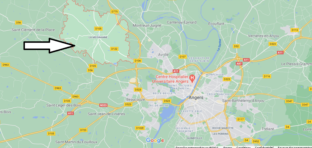 Où se trouve La Meignanne