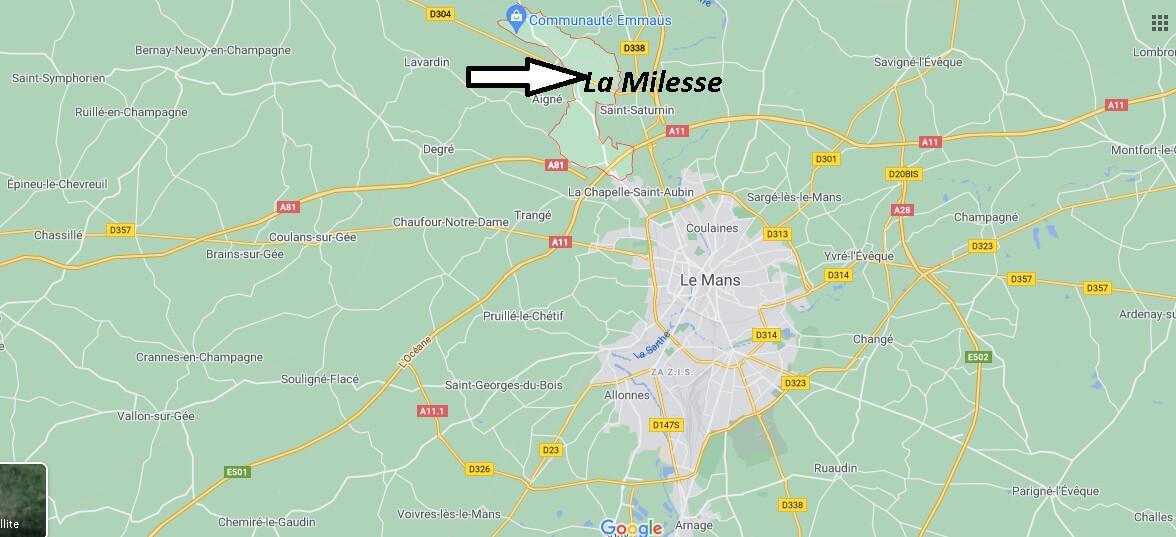 Où se trouve La Milesse