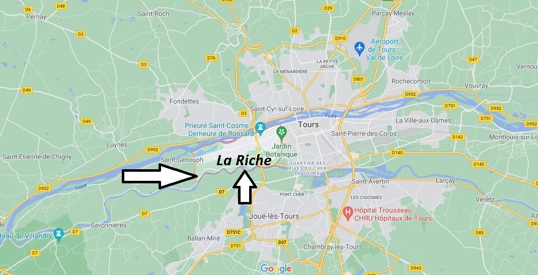 Où se trouve La Riche