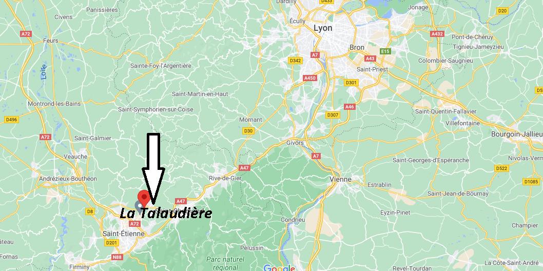 Où se trouve La Talaudière