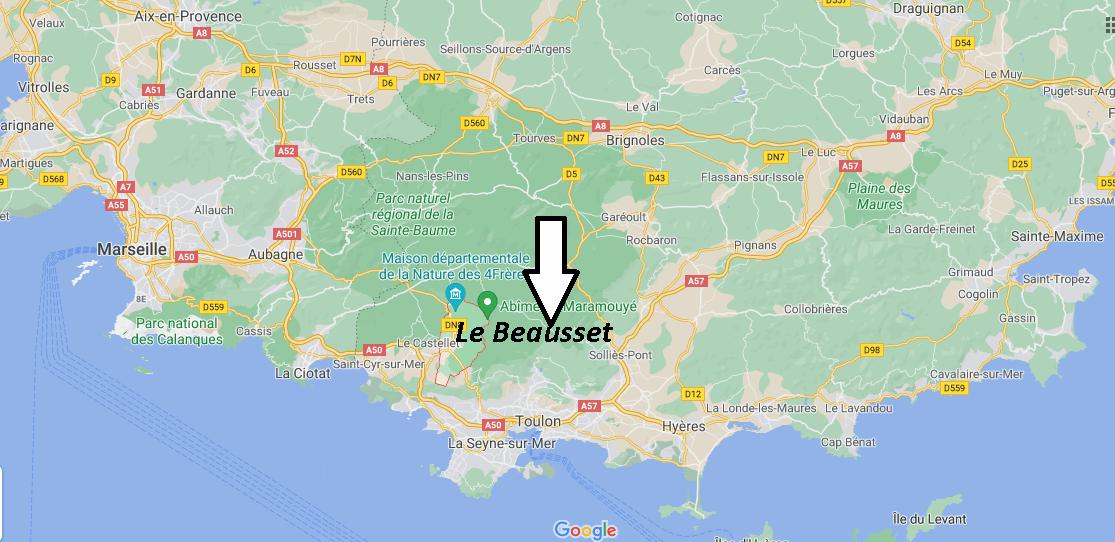 Où se trouve Le Beausset