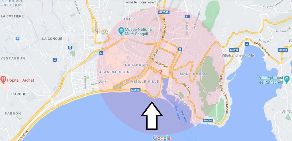 Où se trouve Le Château de Nice