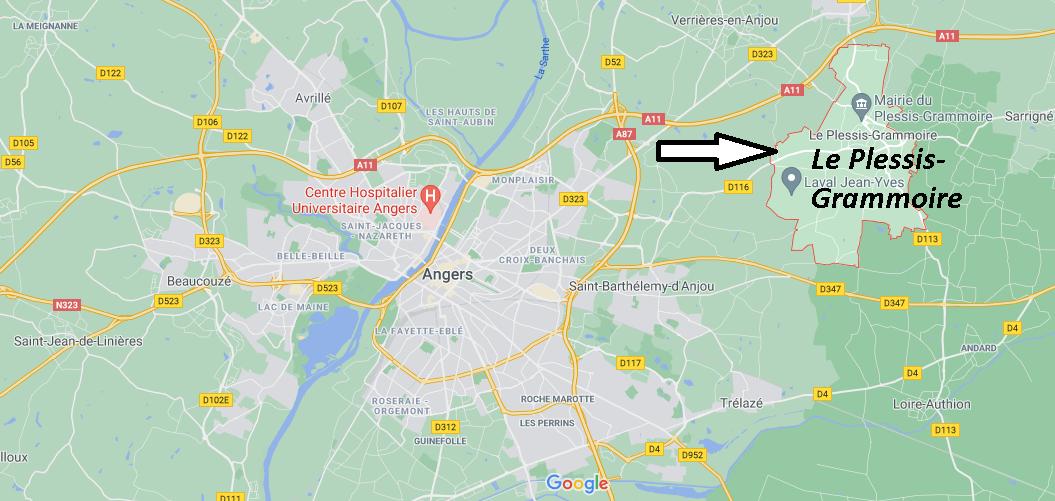 Où se trouve Le Plessis-Grammoire