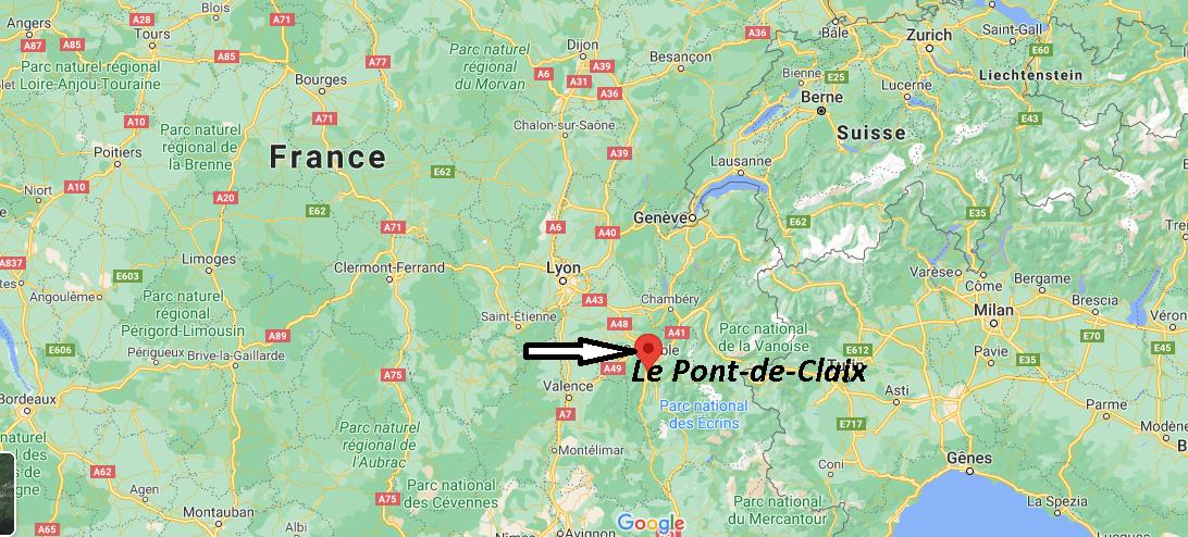 Où se trouve Le Pont-de-Claix