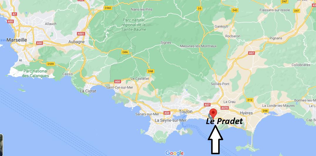 Où se trouve Le Pradet