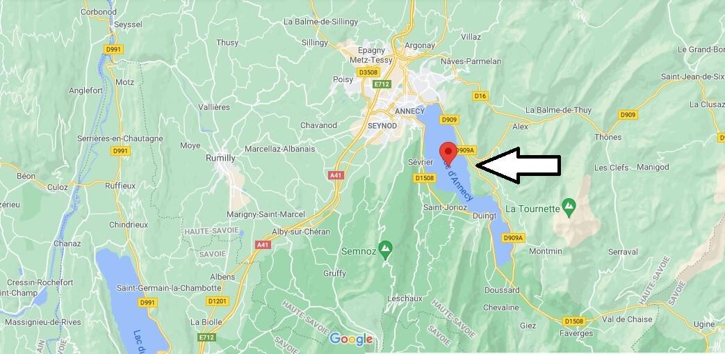 Où se trouve Le lac d-Annecy