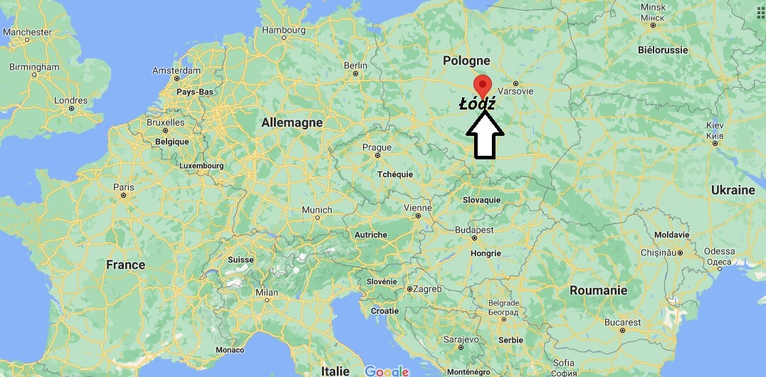 Où se trouve Łódź