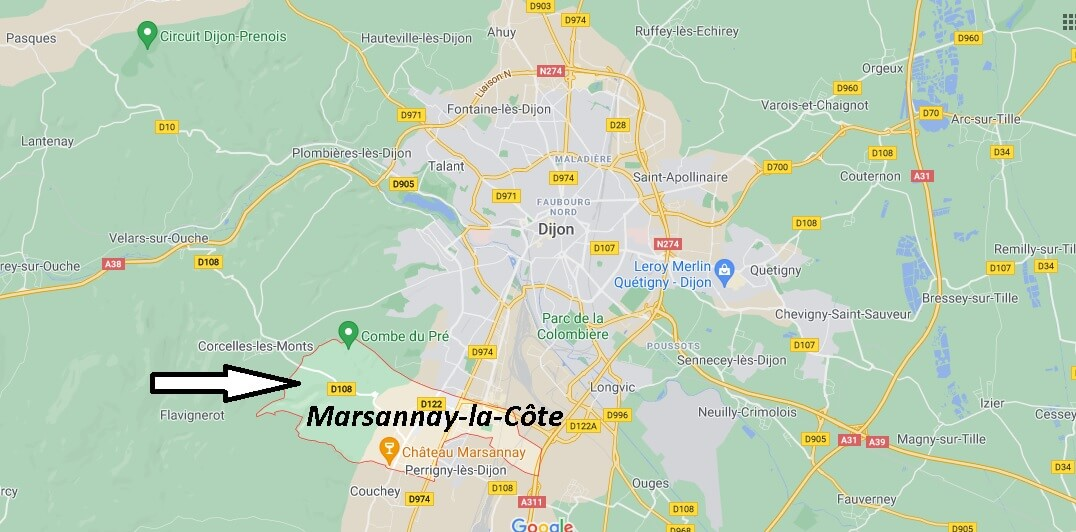 Où se trouve Marsannay-la-Côte