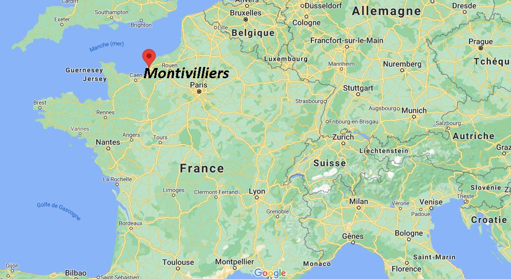 Où se trouve Montivilliers sur la carte de France