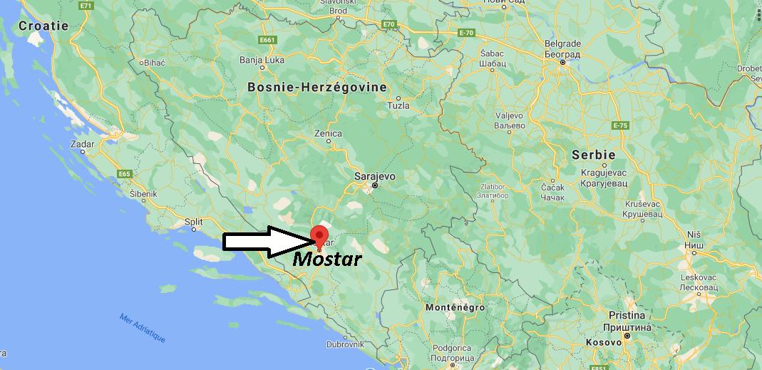 Où se trouve Mostar
