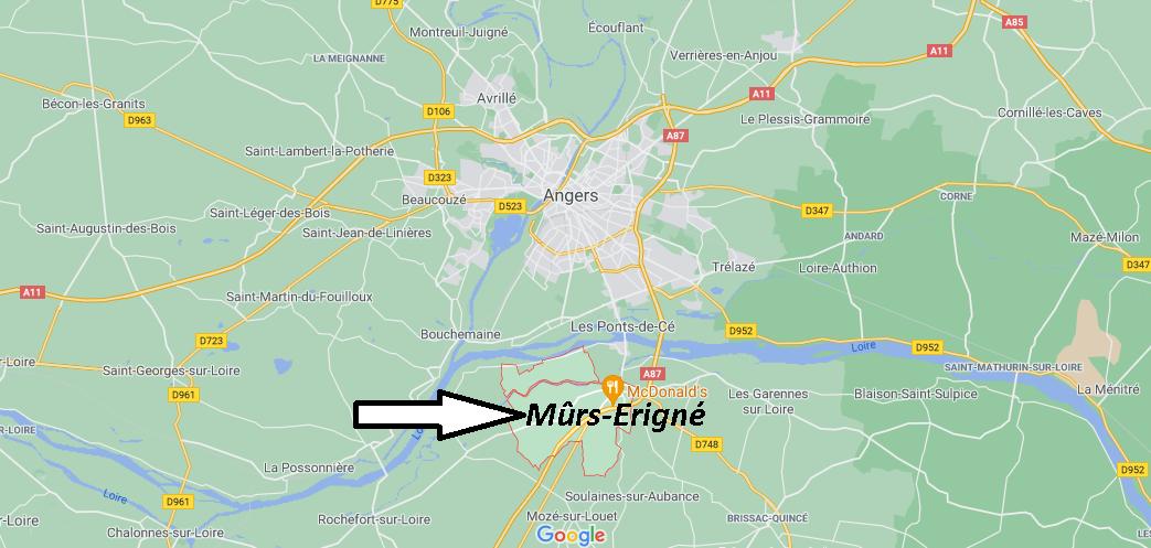 Où se trouve Mûrs-Erigné