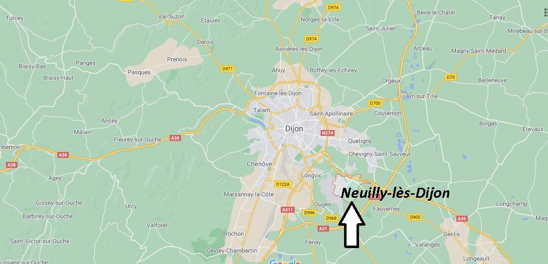 Où se trouve Neuilly-lès-Dijon