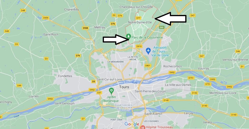 Où se trouve Notre-Dame-d'Oé