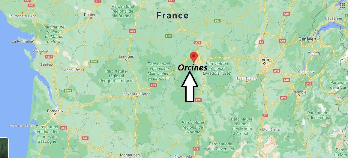 Où se trouve Orcines