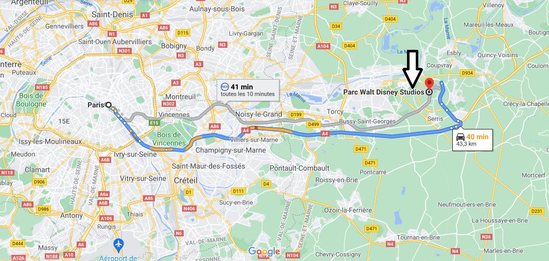 Où se trouve Parc Walt Disney Studios Paris