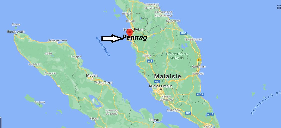 Où se trouve Penang