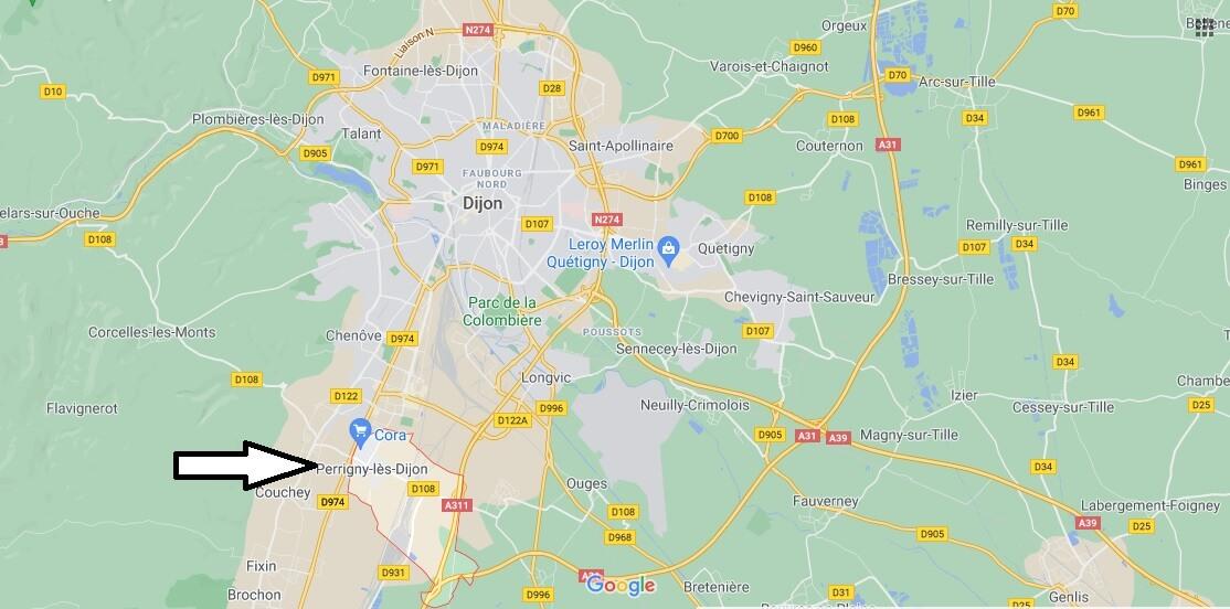 Où se trouve Perrigny-lès-Dijon