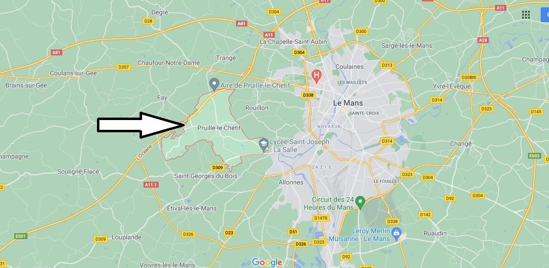 Où se trouve Pruillé-le-Chétif