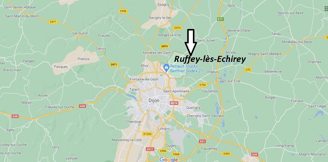 Où se trouve Ruffey-lès-Echirey