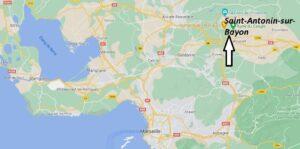 Où se trouve Saint-Antonin-sur-Bayon