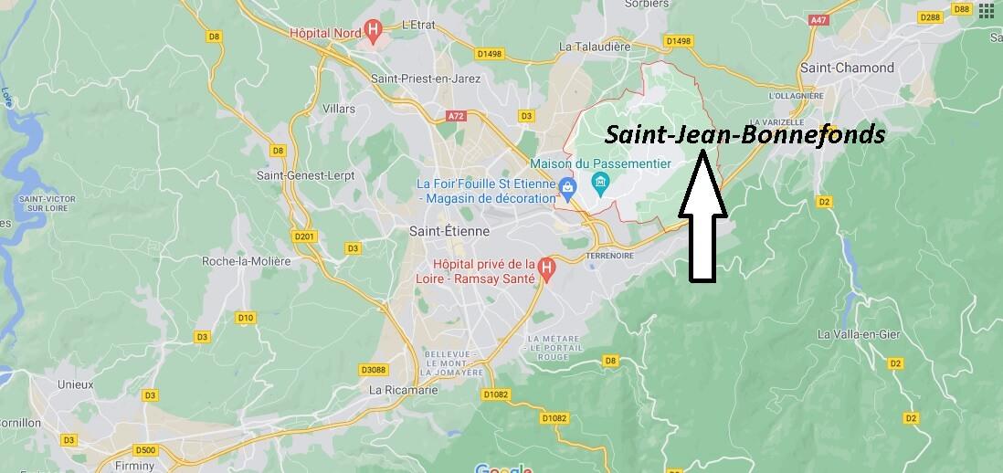 Où se trouve Saint-Jean-Bonnefonds