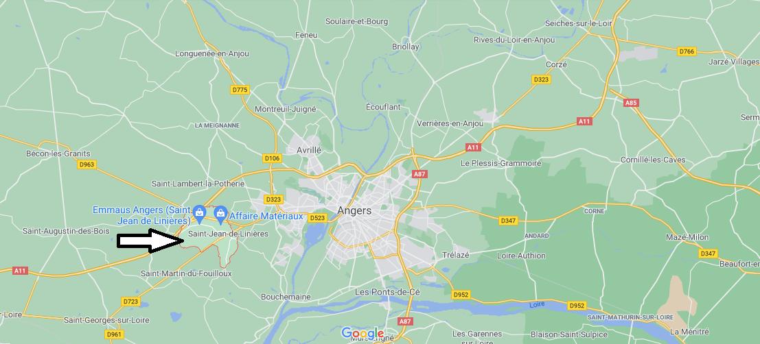 Où se trouve Saint-Jean-de-Linières