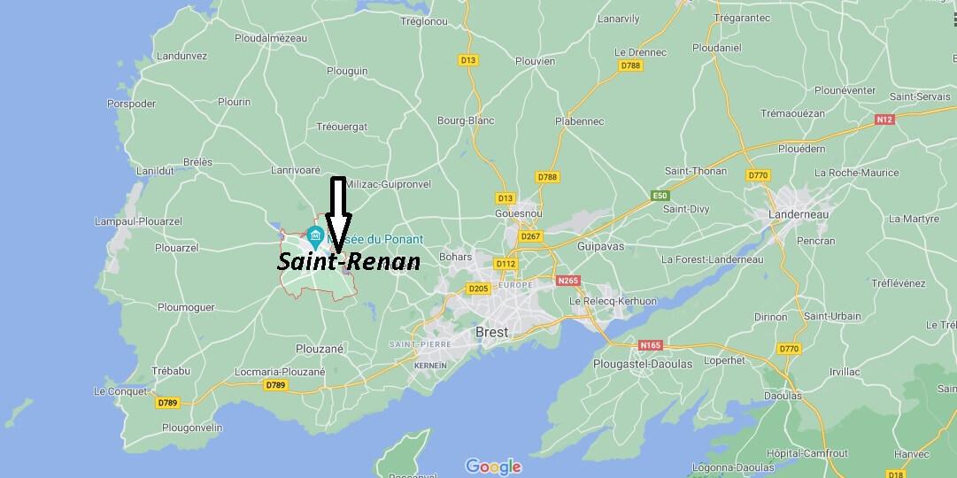 Où se trouve Saint-Renan