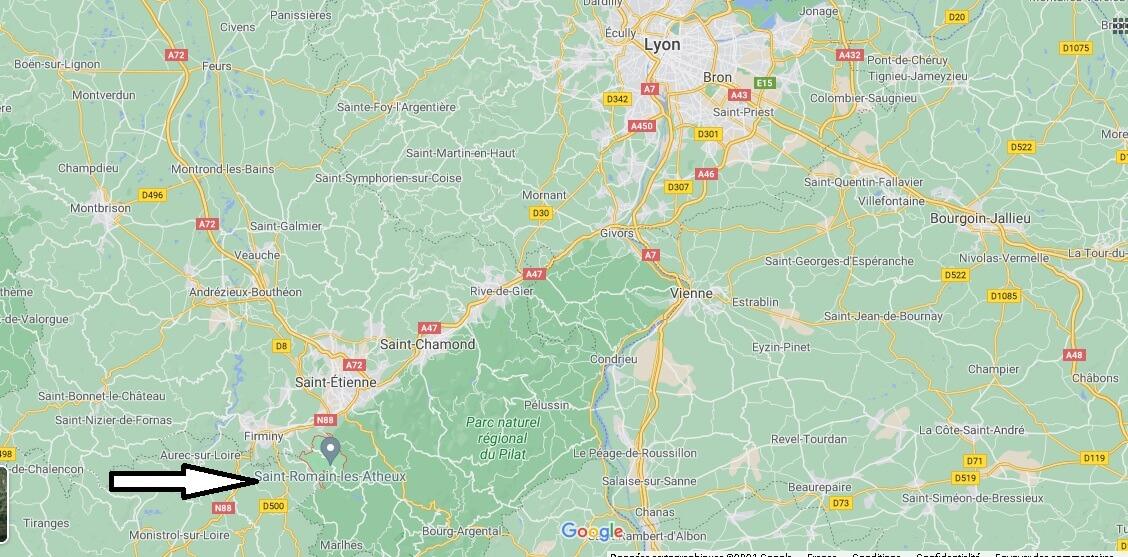 Où se trouve Saint-Romain-les-Atheux
