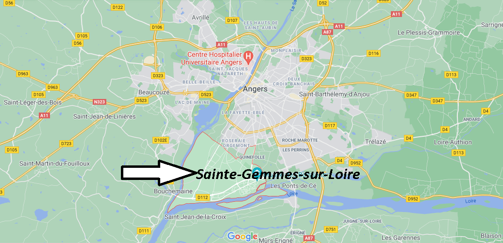 Où se trouve Sainte-Gemmes-sur-Loire